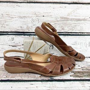 NEW! Naturalizer Cyprus Cognac Sling Back Sandals